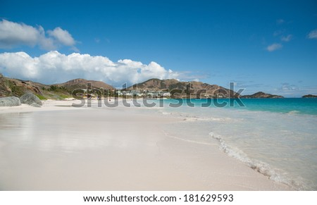 prestine Orient Beach on Sanit Martin island - stock photo