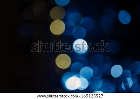 pretty blue  bokeh for holiday wallpaper - stock photo