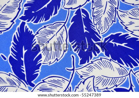 Pretty Blue Tropical Background Design - stock photo