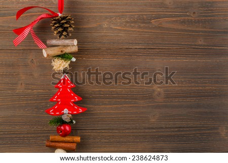 pretty decoration for christmas. symbolic photo for a merry and peaceful christmas. - stock photo