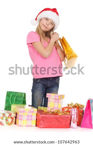 Pretty female showed herself in the photos in all her glory - stock photo