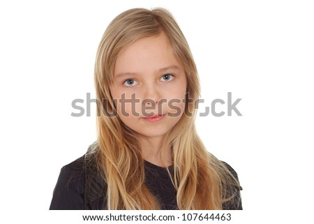 Pretty girl showed herself in the photos in all her glory - stock photo