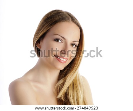 Pretty girl smiling - stock photo