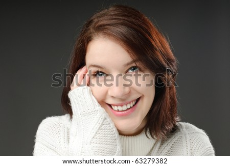 Pretty girl with jersey - stock photo