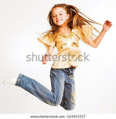 pretty little girl - stock photo