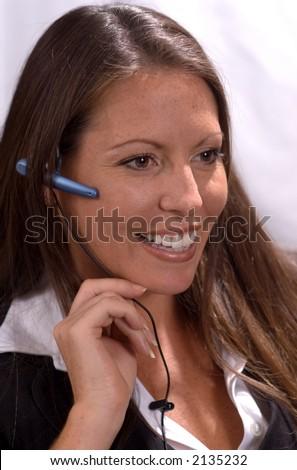 Pretty Receptionist - stock photo