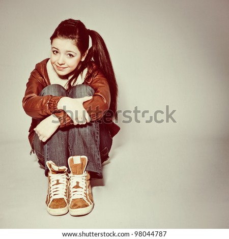 Pretty Teen Girl - stock photo