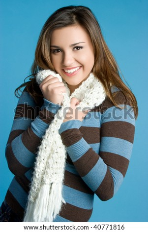 Pretty Winter Girl - stock photo