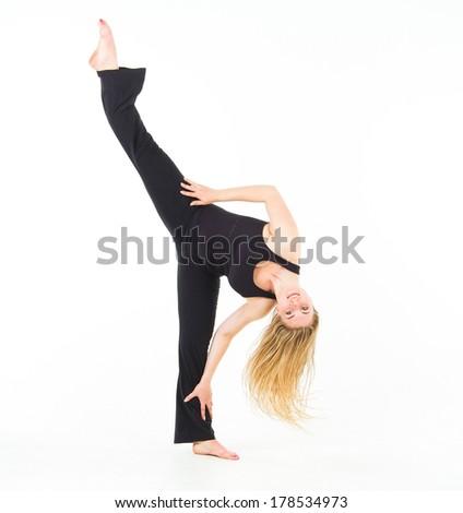 Pretty Woman Fitness Joy  - stock photo