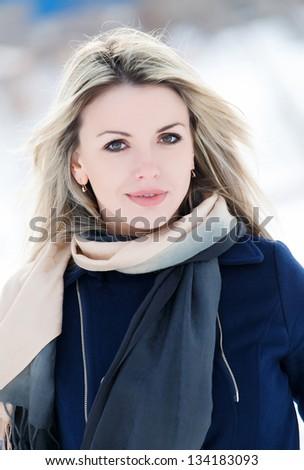 Pretty woman smiling to you - stock photo