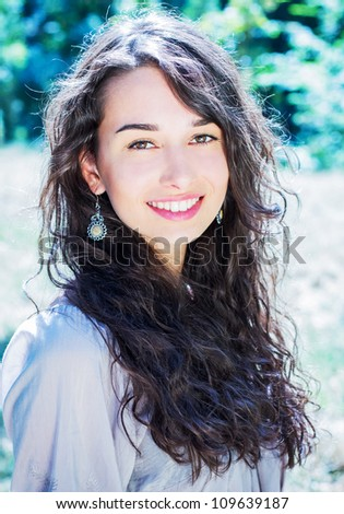 Pretty young woman. - stock photo