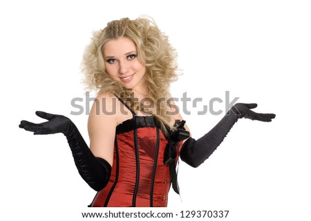 Pretty young woman gesturing do not know sign. - stock photo