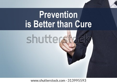 Prevention Is Better than Cure Cartoon
