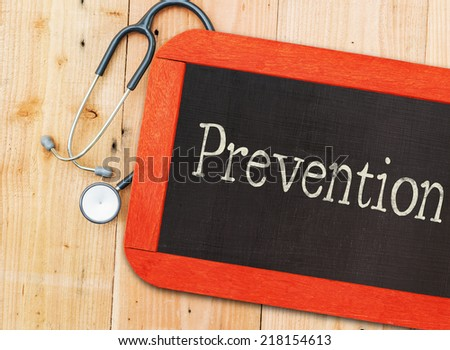 Prevention written in chalkboard. - stock photo