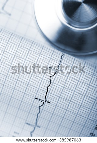 Preventive examinations of cardiac activity with regular exercise. - stock photo