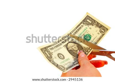 price cut - stock photo