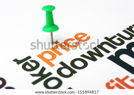 Price downturn - stock photo