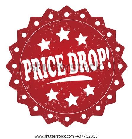 price drop! grunge stamp on white background. - stock photo