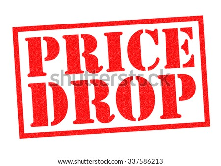 PRICE DROP red Rubber Stamp over a white background. - stock photo