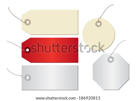 price tag isolated on white background - stock photo