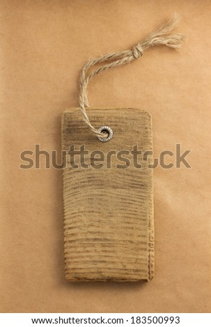 price tag label at paper textured background - stock photo