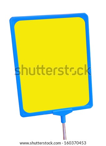Price tag - plate isolated on white background. - stock photo