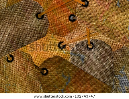 price tags background. - stock photo