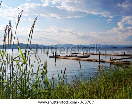 Priest Lake - stock photo