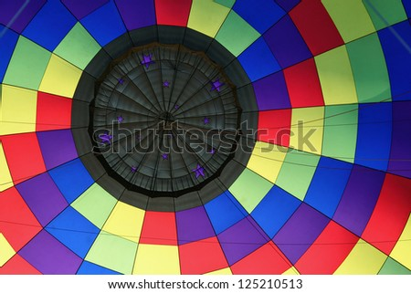 Primary Colors Balloon Interior - stock photo