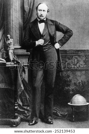Prince Albert (1819-1861), husband and consort of Queen Victoria of the United Kingdom of Great Britain and Ireland, circa 1850s. - stock photo
