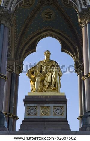 Prince Albert Memorial.  Located in Kensington Gardens, London - stock photo
