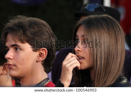 Prince Jackson, Paris Jackson at Michael Jackson Immortalized at Grauman's Chinese Theatre, Hollywood, CA 01-26-12 - stock photo