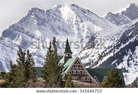 Prince of Wales Hotel Waterton Alberta Canada - stock photo