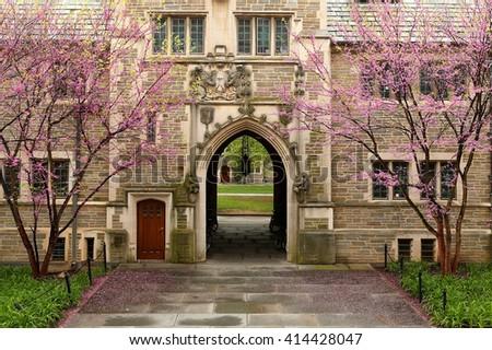 Princeton, New Jersey - April, 2016: Princeton University is a Private Ivy League University in New Jersey, USA. - stock photo