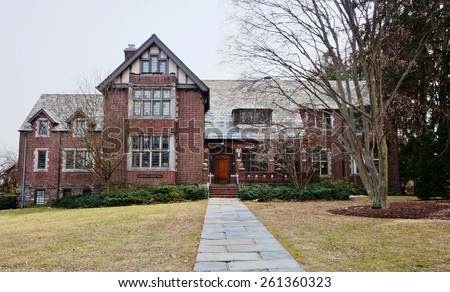 PRINCETON, NJ -13 MARCH 2015- Editorial: The Mamdouha S. Bobst Hall at Princeton University is home to the James Madison Program and the Bobst Center for Peace and Justice. - stock photo