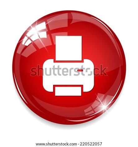 print icon - stock photo