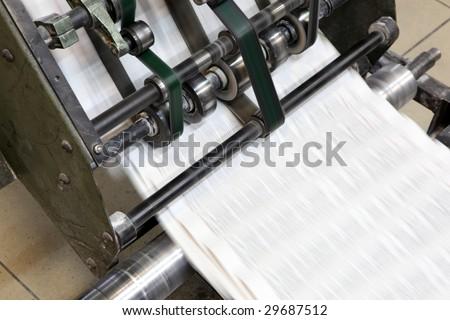 Print machine - stock photo