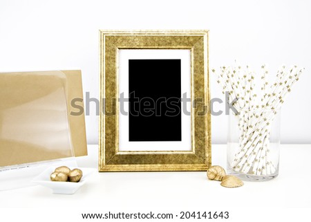 Print, Photography, Art mock up, styled stock Photography - stock photo