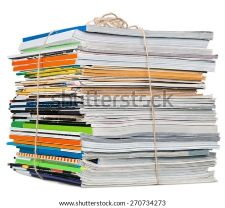 Print, piled, pile. - stock photo