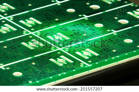 Printed circuit board - stock photo