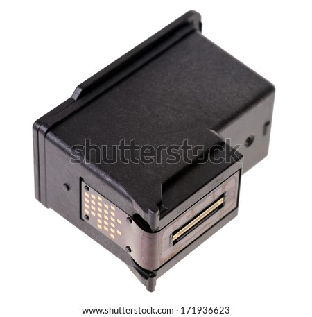 Printer cartridge isolated over a white background / Printer Cartridge - stock photo
