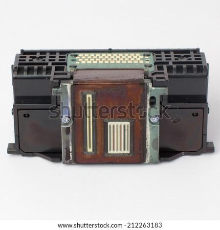 Printer head ,Ink cartridges in printer  - stock photo