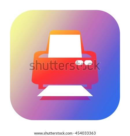 Printer icon - stock photo