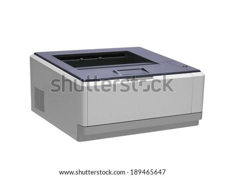 Printer. On a white background. - stock photo