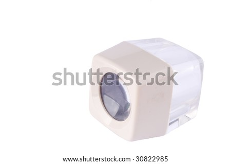 Printers loupe, magnifying glass on white - stock photo