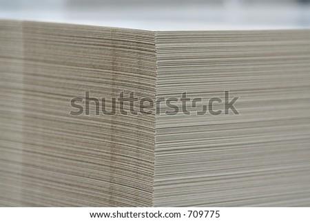 printing cardboard stock - stock photo