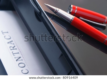 Printing contracts - stock photo
