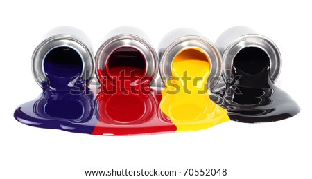 Printing press color, cyan, magenta, yellow and black - stock photo