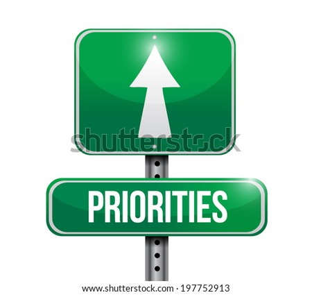 priorities illustration design over a white background - stock photo
