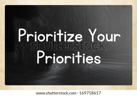prioritize your priorities - stock photo